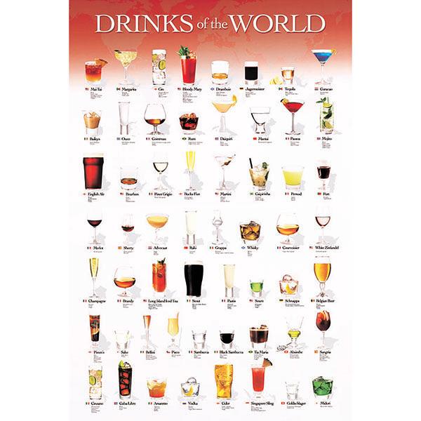 【台製拼圖】世界調酒集 (1000片) 100-278
