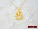 9999純金 黃金 平安(蘋果) 墜子 墜飾 項鍊 送精緻皮繩項鍊