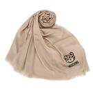 MOSCHINO 經典TOY小熊 100%莫代爾材質薄圍巾(卡其色)911004-003