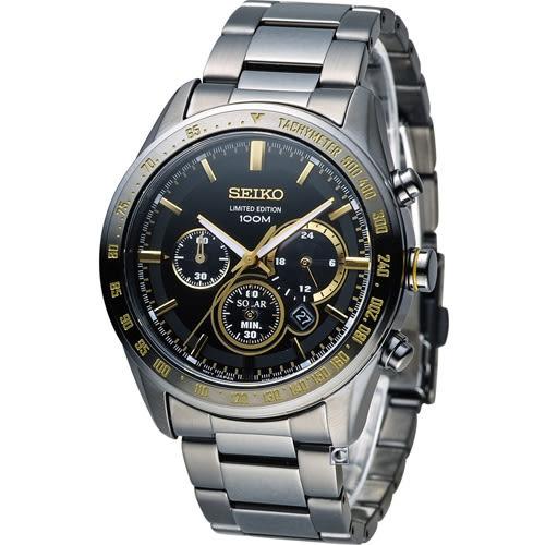 SEIKO Criteria 極速狂風太陽能計時腕錶 V175-0DL0K SSC473P1