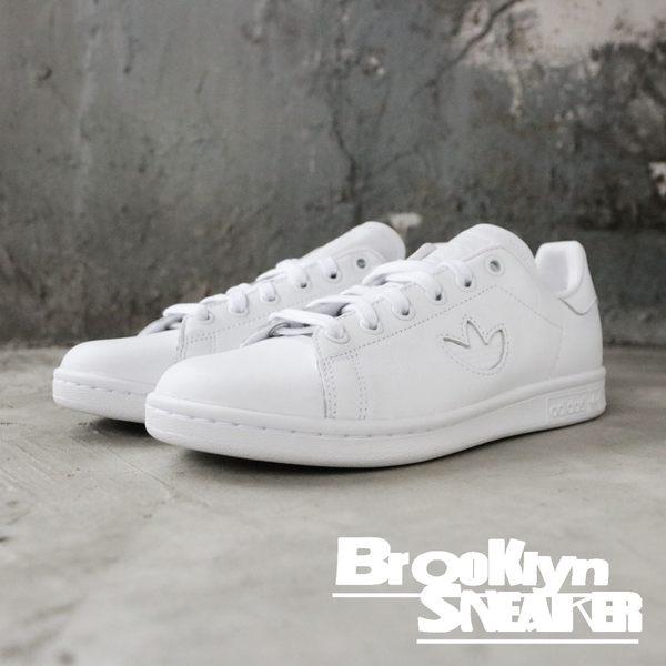 ADIDAS ORIGINALS STAN SMITH 白 皮革 小白鞋 全白 休閒鞋 百搭 大LOGO 女(布魯克林) 2019/3月 BD7451