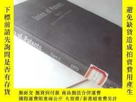 二手書博民逛書店Index罕見of Patents Part 2【16開精裝 英