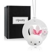 OPretty 歐沛媞 室內/車用 香氛擴香石掛飾-環形粉色小兔子(3.8X7.2X7.5cm)
