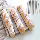 烘焙模具4槽波浪不粘 烤盤法棍烤盤法式烤盤模具法棒模面包模【萬聖節八五折搶購】