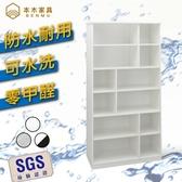 【本木】防潮/抗蟲蛀/可水洗 塑鋼加高開放收納置物櫃雪松