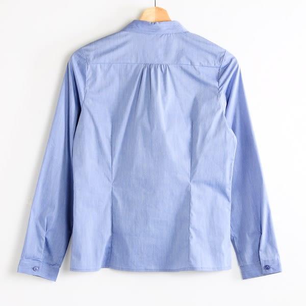 【MASTINA】素面質感百搭襯衫-藍  秋裝限定嚴選