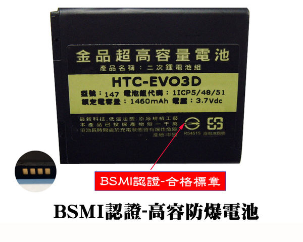 【金品-BSMI認證電池】HTC Desire Q (T328h) / Desire U (T327e)微笑機 原電製程