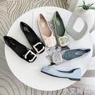 豆豆鞋子女2020年春秋季新款百搭韓版搭扣淺口網紅仙女風平底單鞋 小艾新品