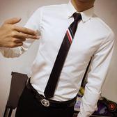 潮男士正韓5cm窄版懶人拉?領帶夜店男正裝商務TB領帶 【好康八五折】