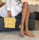 ■現貨在台■專櫃77折■Celine 袖珍型敲打小牛皮 Nano Luggage 2用包 金釦 檸檬黃色