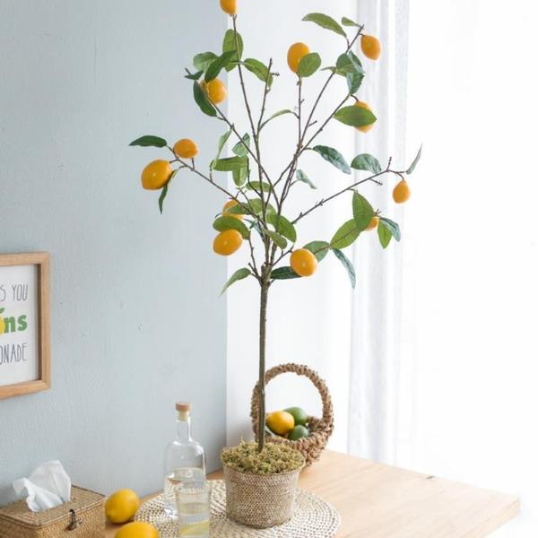 仿真綠植盆栽室內假檸檬樹ins客廳落地擺件裝飾北歐假花植物 NMS 樂活生活館