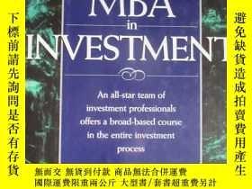 二手書博民逛書店《THE罕見PORTABLE MBA in INVESTMENT