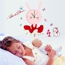 時鐘壁貼 兔女郎 兒童房教室裝潢佈置 牆貼壁紙貼紙【YV0018】BO雜貨