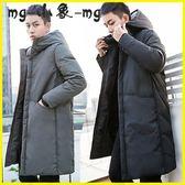 羽絨外套 羽絨服中長款過膝長款大衣韓版修身外套