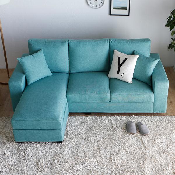 桑妮三人+凳L型沙發/4色/H&D東稻家居