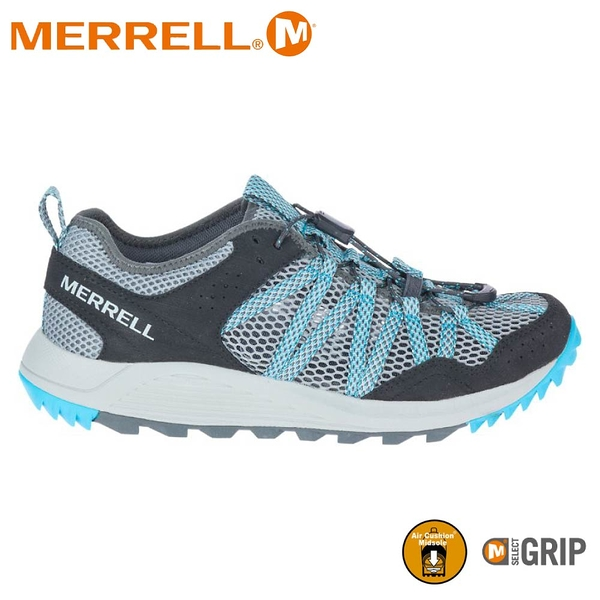 【MERRELL 美國 女 WILDWOOD AEROSPORT水陸兩棲鞋《淺灰/水藍》】ML036158/健行鞋/休閒鞋