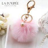 包包吊飾 韓國流行手工製作精緻甜美珍珠澎澎毛球掛飾 12色-La Poupee樂芙比質感包飾 (現貨99元)