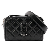 【MARC JACOBS】THE QUILTED SOFTSHOT 21 菱格紋相機包(黑色) M0015419 001