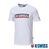 【超取】K-SWISS KS USA Tee印花短袖T恤-男-白