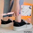 PAPORA韓系休閒百搭帆布鞋KS5369黑色/白色