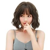 整頂假髮(短髮)-空氣瀏海自然捲髮女假髮4色73vs14【巴黎精品】