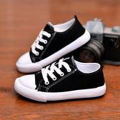春秋季新款男童帆布鞋兒童布鞋板鞋系帶女童軟底休閒學生鞋子