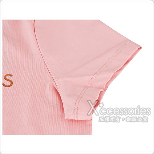 CK Calvin Klein 經典金字燙金字母LOGO造型女仕短袖T恤(S/粉)