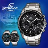 CASIO手錶專賣店 卡西歐  EDIFICE EFR-516D-1A7  男錶 三針三圈 碼錶 防水 錶殼經離子處理 不鏽鋼錶帶
