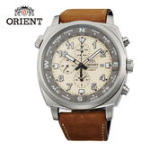ORIENT 東方錶 東方霸王專業方位判定石英錶 皮帶款 FTT17005Y 米白色 - 45.5mm
