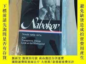 二手書博民逛書店Nabokov罕見Novel 1969-1974 Ada Transparent Things look at t