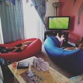 戶外懶人充氣沙發空氣床墊午睡網紅氣墊床折疊單人便攜式野營椅子YYJ【免運快出】