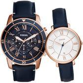 FOSSIL 永恆極致經典情侶對錶 ES3843_FS5237 熱賣中!