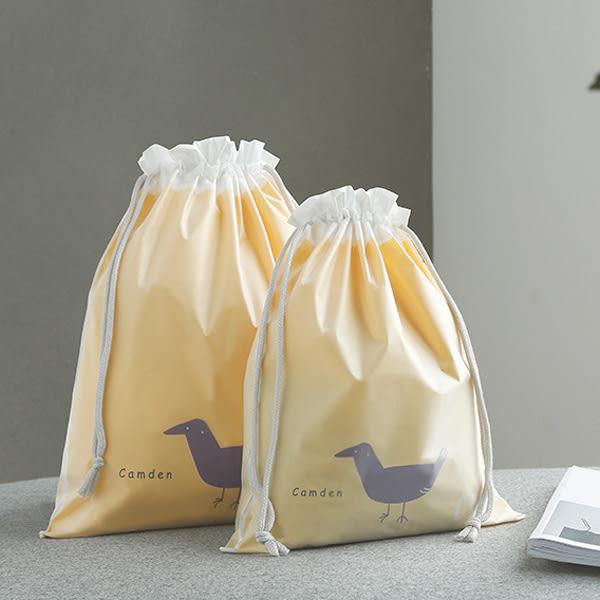 【BlueCat】動物之家雙層防水旅行收納束口袋(大號)