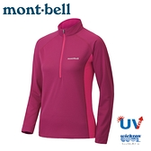 【Mont-Bell 日本 女 COOL L/S T 長袖排汗T恤《莓紅》】1114459/排汗衣/防曬長袖