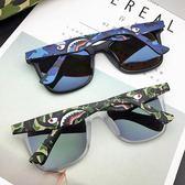 日本香港潮牌迷彩立體鯊魚眼鏡偏光太陽鏡李晨同款墨鏡男女開車 英雄聯盟