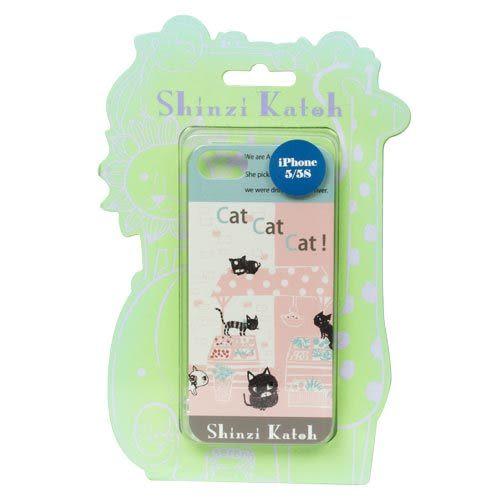 ★funbox生活用品★《Shinzi Katoh 加藤真治》  iPhone5/5S保護殼(貓咪市集) _ZI02293