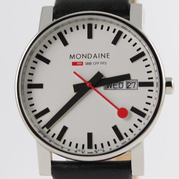 【萬年鐘錶】MONDAINE 瑞士國鐵 Day Date雙視窗腕錶 38mm XM-6674411