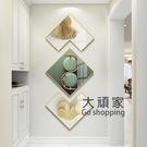 壁畫 入戶玄關走廊豎版裝飾畫現代簡約入門過道壁畫客廳新中式輕奢掛畫T
