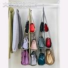 包包收納優芬布藝包包收納掛袋懸掛式家用挎包透明整理袋衣柜墻掛式收納袋 快速出貨