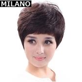 假髮(短髮)-時尚流行中老年微捲女假髮2色73em16【時尚巴黎】