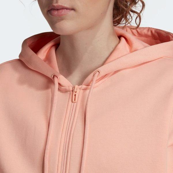 ★現貨在庫★ ADIDAS MUST HAVES 3-STRIPES 女裝 外套 連帽 慢跑 訓練 三條線 粉橘【運動世界】EB3824