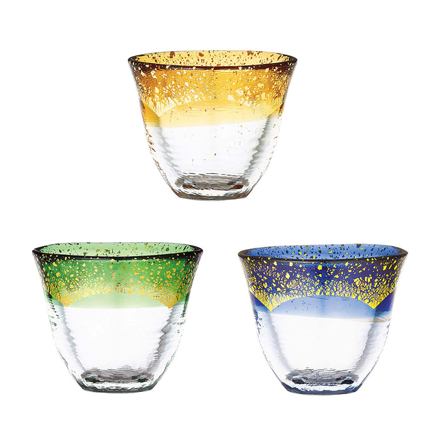 日本TOYO-SASAKI 手作耐熱金箔燒酒杯-共3色