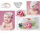*甜蜜蜜親子 *韓單 小花針織帽B1 白粉玫瑰