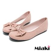 【Miaki】MIT 百搭時尚蝴蝶結平底圓頭娃娃鞋