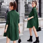 新款韓版休閒薄款小個子風衣女式中長款寬鬆春初秋季長袖外套 全館滿千折百