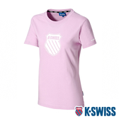 【超取】K-SWISS Shield Logo Tee印花短袖T恤-女-粉紫