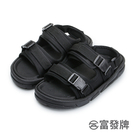 【富發牌】街頭情侶兩穿女款涼拖鞋-黑 1...