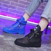 新款短靴女ins潮夏季網紗透氣時尚百搭彩色馬丁靴鏤空涼靴火  【快速出貨】