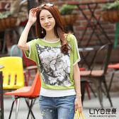 LIYO理優撞色印花針織衫617022