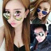 新款太陽眼鏡韓國圓臉女士墨鏡男士潮個性明星款潮人偏光眼睛【一條街】